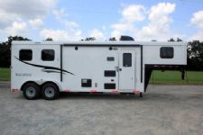 #05483 - New 2016 Bison Trail Hand 7208LQ 2 Horse Trailer  with 8' Short Wall