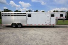 #59056 - Used 2013 Exiss 7012STKLQ Stock Trailer  with 12' Short Wall