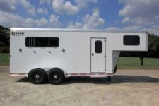 #73549 - Used 2013 Shadow 3HSL 3 Horse Trailer  with 6' Short Wall