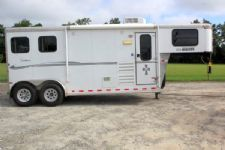 #A5282 - Used 2011 Sundowner HORIZON2HGN6906RS 2 Horse Trailer  with 6' Short Wall