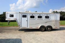 #13610 - Used 2002 Exiss XT300 3 Horse Trailer  with 4' Short Wall