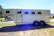 #01547 - Used 1997 Exiss Maximum 3 Horse Trailer  with 4' Short Wall