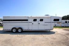 #23684 - Used 2004 Trails West 7406MTGN 4 Horse Trailer  with 6' Short Wall