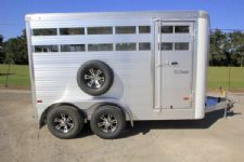 #B2851 - New 2016 Sundowner Stockman14BP Stock Trailer  with 2' Short Wall
