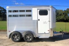 #B2853 - New 2016 Sundowner STOCKMANSPL2HBP 2 Horse Trailer  with 3' Short Wall