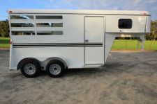 #77228 - New 2016 Bee 2HSLGN 2 Horse Trailer  with 2' Short Wall