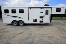 #05845 - New 2016 Bison Trail Hand 7306LQ S 3 Horse Trailer  with 6' Short Wall