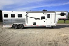 #05847 - New 2016 Bison Laredo 8310LQ 3 Horse Trailer  with 10' Short Wall