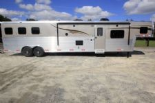 #05849 - New 2016 Bison Silverado 8316GLQRK 3 Horse Trailer  with 16' Short Wall