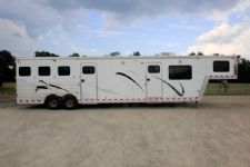 #48933 - Used 2005 Kiefer Built 8317MTLQ 3 Horse Trailer  with 17' Short Wall