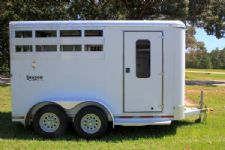 #73614 - Used 2007 Shadow 2HBP 2 Horse Trailer  with 2' Short Wall