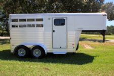 #A5283 - Used 2012 Sundowner Rancher Special 2 Horse Trailer  with 2' Short Wall