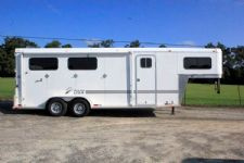 #29067 - Used 2012 Macon Custom Trailers 3 Horse Weekender 4 Horse Trailer  with 4' Short Wall