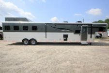 #05895 - New 2016 Bison Silverado 8416LQ Super Glide 4 Horse Trailer  with 16' Short Wall