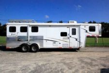 #08650 - Used 2006 Bison 7380LQ 3 Horse Trailer  with 8' Short Wall