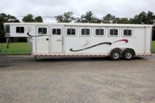 #00235 - Used 2000 Sooner 6HSL 6 Horse Trailer  with 4' Short Wall