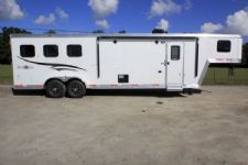 #05794 - New 2016 Bison Trail Boss 7310LQTO 3 Horse Trailer  with 10' Short Wall