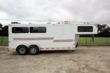 #01461 - Used 2002 Silver Star 3HSLGN Starlite 3 Horse Trailer  with 4' Short Wall