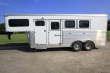 #A4863 - Used 2012 Sundowner 3HSL 3 Horse Trailer  with 4' Short Wall
