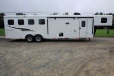 #05908 - New 2016 Bison Trail Hand 7410LQTO 4 Horse Trailer  with 10' Short Wall