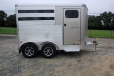 #B3136 - New 2016 Sundowner SS2HBP 2 Horse Trailer  with 2' Short Wall