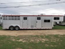 #01519 - Used 1996 Sooner 8312LQ 3 Horse Trailer  with 12' Short Wall