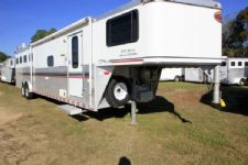 #A3672 - Used 2003 Sundowner 8412LQ 4 Horse Trailer  with 12' Short Wall