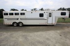 #16973 - Used 2000 4 Star Trail Boss 4 Horse Trailer  with 12' Short Wall