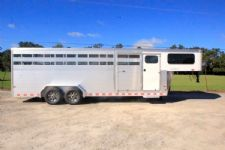 #B3150 - New 2016 Sundowner RANCHER24GNTR Stock Trailer  with 4' Short Wall