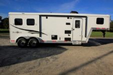#05917 - New 2016 Bison Trail Boss 7208LQ 2 Horse Trailer  with 8' Short Wall
