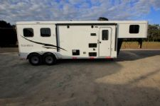 #05919 - New 2016 Bison Trail Hand 7208LQ 2 Horse Trailer  with 8' Short Wall