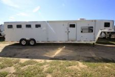 #21278 - Used 2003 Exiss 8314BKLQ 3 Horse Trailer  with 14' Short Wall