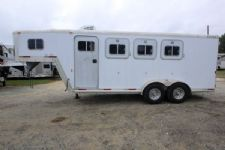 #07003 - Used 1999 Exiss SS300 3 Horse Trailer  with 4' Short Wall