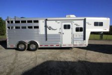 #06244 - Used 2013 Platinum 8308LQ 3 Horse Trailer  with 8' Short Wall