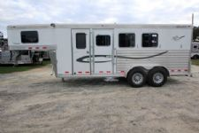 #01839 - Used 2007 Cherokee 3HSLGN 3 Horse Trailer  with 4' Short Wall