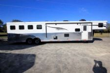 #06080 - New 2016 Bison Ranger 8414LQBK 4 Horse Trailer  with 14' Short Wall