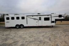 #06116 - New 2016 Bison Ranger 8414LQSD 4 Horse Trailer  with 14' Short Wall