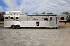 #06075 - New 2016 Bison Premiere 8317GLQUG 3 Horse Trailer  with 17' Short Wall