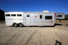 #13113 - Used 1998 4 Star 8310MTLQ 3 Horse Trailer  with 10' Short Wall