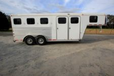#10667 - Used 2006 Charmac 7340GN 3 Horse Trailer  with 4' Short Wall
