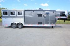 #01411 - New 2016 Lakota Charger 8311LQ 3 Horse Trailer  with 11' Short Wall