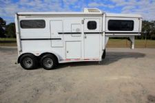 #38024 - Used 1999 CM 2HST 2 Horse Trailer  with 4' Short Wall