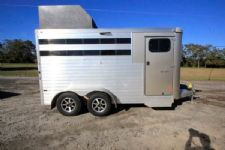 #A9494 - Used 2015 Sundowner 3HSLBP 3 Horse Trailer  with 2' Short Wall