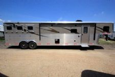 #06169 - New 2016 Bison Premiere 8314GLQBAR 3 Horse Trailer  with 14' Short Wall