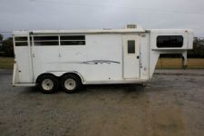 #77831 - Used 2008 Bee 304LQ 3 Horse Trailer  with 4' Short Wall