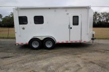 #00339 - New 2016 Harmar Dixie Star 502DSBP 2 Horse Trailer  with 5' Short Wall