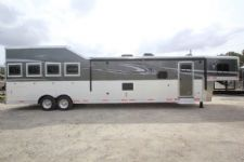 #01437 - New 2016 Lakota 8417GLQ BigHorn UG 4 Horse Trailer  with 17' Short Wall
