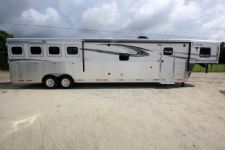 #01435 - New 2016 Lakota 8416SRGLQ Big Horn 4 Horse Trailer  with 16' Short Wall