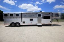 #01454 - New 2016 Lakota Charger 8315GLQ 3 Horse Trailer  with 15' Short Wall
