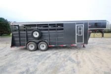 #39957 - Used 2008 Ponderosa 4HSLGN 4 Horse Trailer  with 2' Short Wall